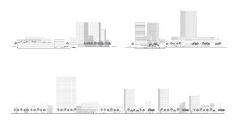 Hosoya Schaefer Architects Nordspitze Basel Migros Genossenschaft Section